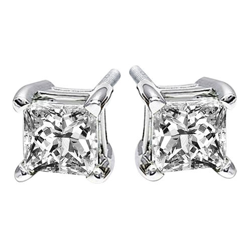 1/4 CT. T.W. Princess-Cut Diamond Stud Earrings
