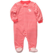 Carter's® Terry Striped Footed Sleep & Play - Girls newborn-9m