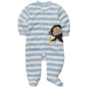Carter's® Striped Microfleece Sleep & Play - Boys newborn-9m