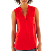 a.n.a® Sleeveless Popover Top