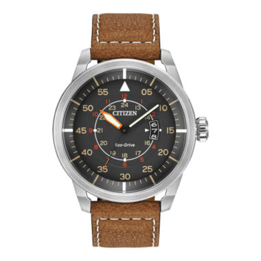 jcpenney.com | Citizen® Eco-Drive® Mens Brown Leather Watch AW1361-10H