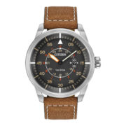 Citizen® Eco-Drive™ Mens Brown Leather Watch AW1361-10H