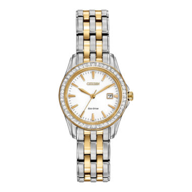 jcpenney.com | Citizen® Eco-Drive® Womens Two-Tone Crystal-Accent Watch EW1908-59A