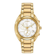 Citizen® Eco-Drive™ Celestial Womens Gold-Tone Diamond Accent Watch FB1392-58A