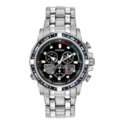 Citizen® Eco-Drive™ Sailhawk Yacht Mens Silver-Tone Chronograph Watch JR4051-54L