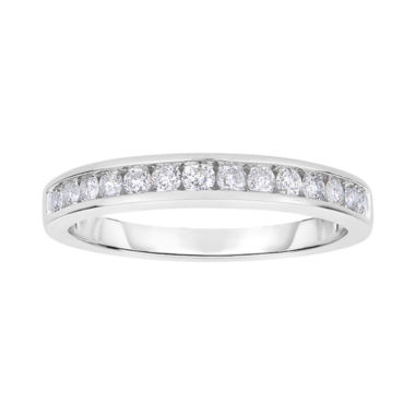 jcpenney.com | Harmony Eternally in Love 1/2 CT. T.W. Certified Diamond Wedding Band 14K White Gold