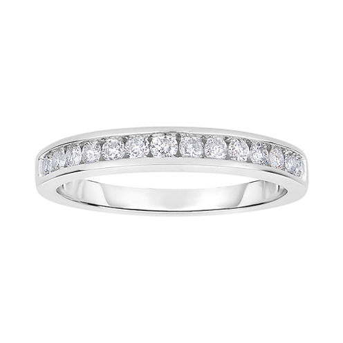 Harmony Eternally in Love 1/2 CT. T.W. Certified Diamond Wedding Band 14K White Gold