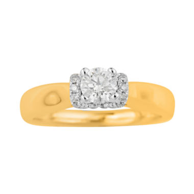 jcpenney.com | True Love, Celebrate Romance® 1/2 CT. T.W. Certified Diamond 14K Gold Bridal Ring