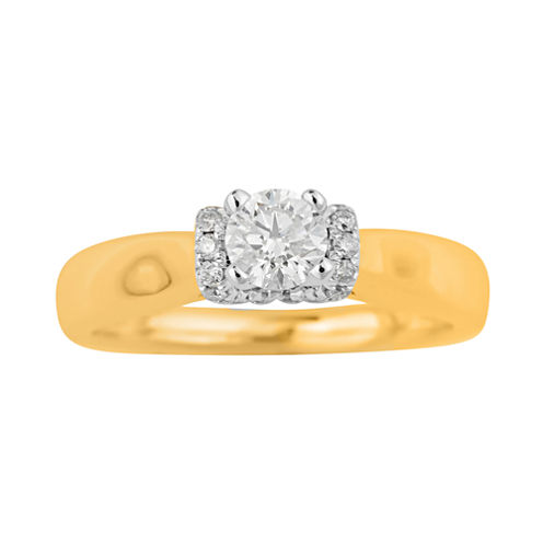 True Love, Celebrate Romance® 1/2 CT. T.W. Certified Diamond 14K Gold Bridal Ring