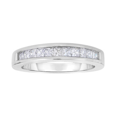 jcpenney.com | 1 CT. T.W. Diamond 10K White Gold Princess-Cut Band Ring