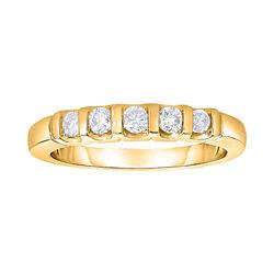 1/4 CT. T.W. Diamond 10K Yellow Gold Bar Band Ring