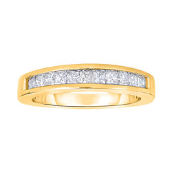 1/2 CT. T.W. Diamond 10K Yellow Gold Princess-Cut Wedding Band