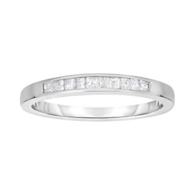 jcpenney.com | 1/3 CT. T.W. Diamond 14K White Gold Princess-Cut Wedding Band