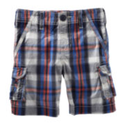 OshKosh B'gosh® Plaid Cargo Shorts - Boys 2t-4t