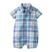 Carter's® Blue Green Plaid Creeper - Boys newborn-24m