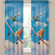 Disney Planes On-Your-Mark Rod-Pocket Curtain Panel Pair