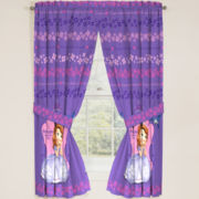 Disney Sofia the First Graceful Rod-Pocket Curtain Panel Pair