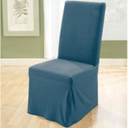SURE FIT® Stretch Piqué Dining Chair Slipcover - Long