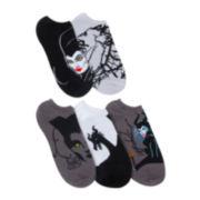Disney 5-pk. Maleficent No-Show Socks