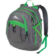 High Sierra® Fatboy Backpack-Charcoal/Green