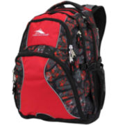 High Sierra® Swerve Backpack-Lava Rock Crimson