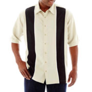 The Havanera Co.® Short-Sleeve Woven Shirt–Big & Tall