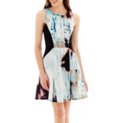Kelly Renee Sleeveless Print Fit-and-Flare Dress