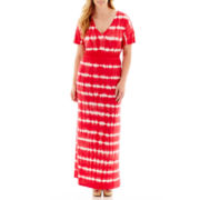 a.n.a® Short-Sleeve Tie-Dyed Maxi Dress - Plus