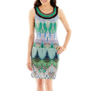 Studio 1® Sleeveless Aztec Print Sheath Dress - Petite
