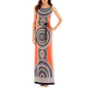 Studio 1® Sleeveless Print Maxi Dress - Petite