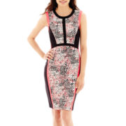Studio 1® Sleeveless Colorblock Print Sheath Dress - Petite