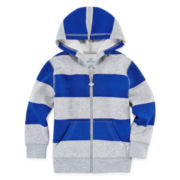 Okie Dokie® Full-Zip Fleece Hoodie - Toddler Boys 2t-5t