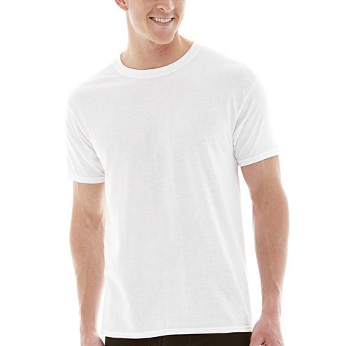 Hanes® 4-pk. Cotton Tag-Free Crewneck T-Shirt + BONUS tee