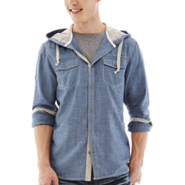 jcpenney.com | i jeans by Buffalo Mazzi Hooded Woven Shirt