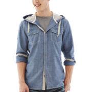 i jeans by Buffalo Mazzi Hooded Woven Shirt