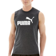 Puma® Sleeveless Logo Tee
