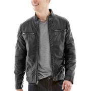 JF J. Ferrar® Faux-Leather Moto Jacket