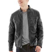 JF J. Ferrar® Faux-Leather Moto Jacket