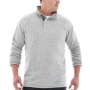 The Foundry Supply Co.™  Button Fleece Jacket - Big & Tall
