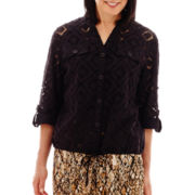 Alfred Dunner® Animal Magnetism Diamond Burnout Jacket