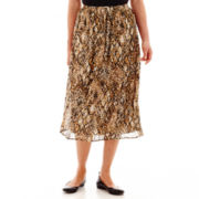 Alfred Dunner® Animal Magnetism Animal Patch Print Broomstick Skirt