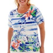 Alfred Dunner® Catalina Island Short-Sleeve Floral Top - Plus