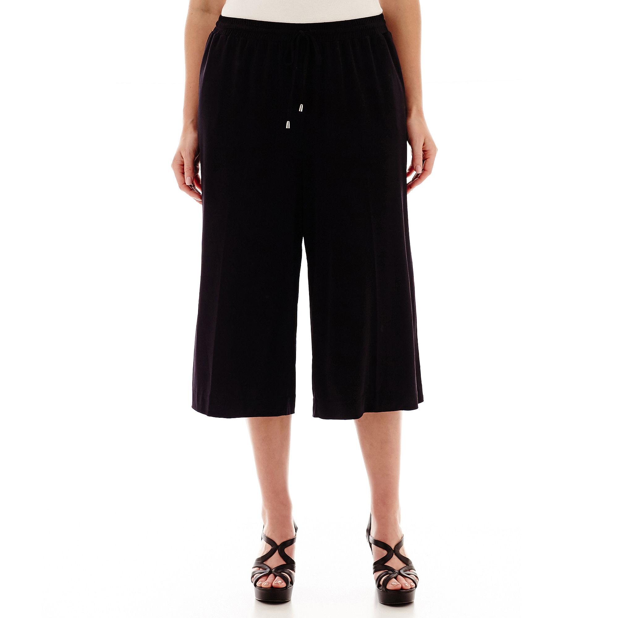 Worthington Drawstring Gaucho Pants - Plus