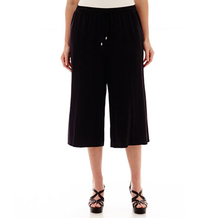 Worthington Drawstring Gaucho Pants - Plus
