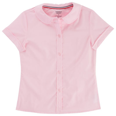 45ccaf53405e63 French Toast Short Sleeve Peter Pan collar Blouse - Girls 4-20 and Plus