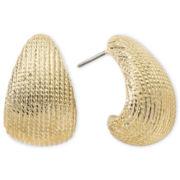 Monet® Gold-Tone J-Hoop Earrings