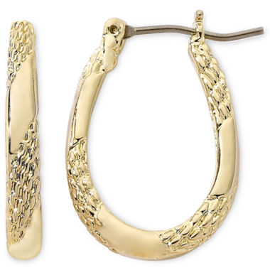 jcpenney.com | Monet® Gold-Tone Small Oval Hoop Earrings