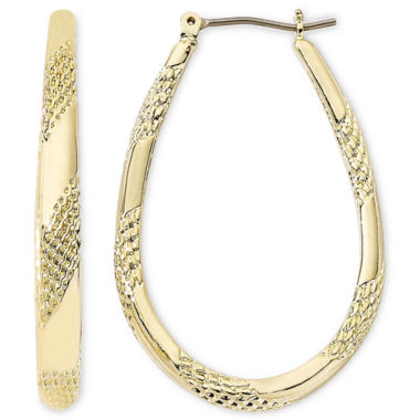 jcpenney.com | Monet® Gold-Tone Large Oval Hoop Earrings