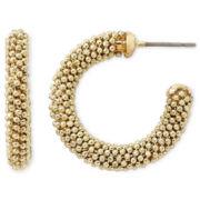Monet® Gold-Tone Small Mesh Hoop Earrings