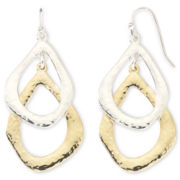 Liz Claiborne® Two-Tone Double-Drop Earrings